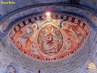 Detall de la cúpula de l'absis decorat de Sant Esteve de Tavèrnoles. Autor: Ricard Badia