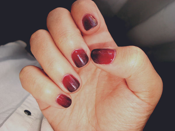 Red And Black Ombre Nails Black And White Ombre Nails