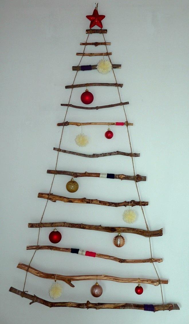 Regalos manuales de amor rbol de navidad diy con palos - Tutorial arbol de navidad ...