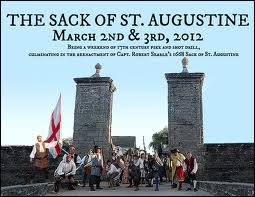 Art Walk, Drama, Privateers, and Hank Williams Jr! 8  Sack+of+St+Aug+2012 St. Francis Inn St. Augustine Bed and Breakfast