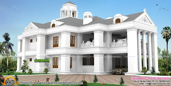 Colonial model luxurious home