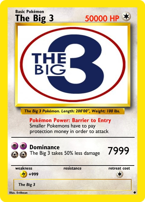 The Big 3 - Internet Service Pokemons