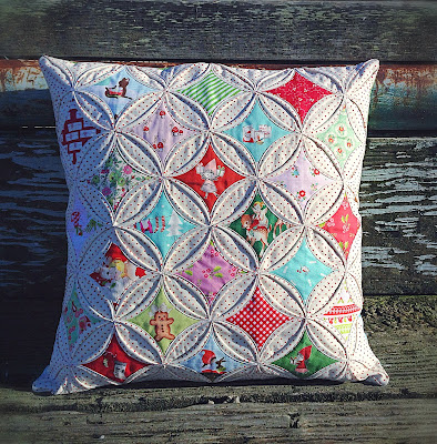 Lovely Little Handmades Cathedral Windows Pillow Tutorial