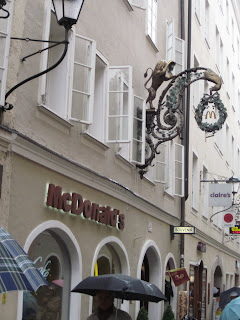 McDonalds in a very prominent district in Old City Salzburg