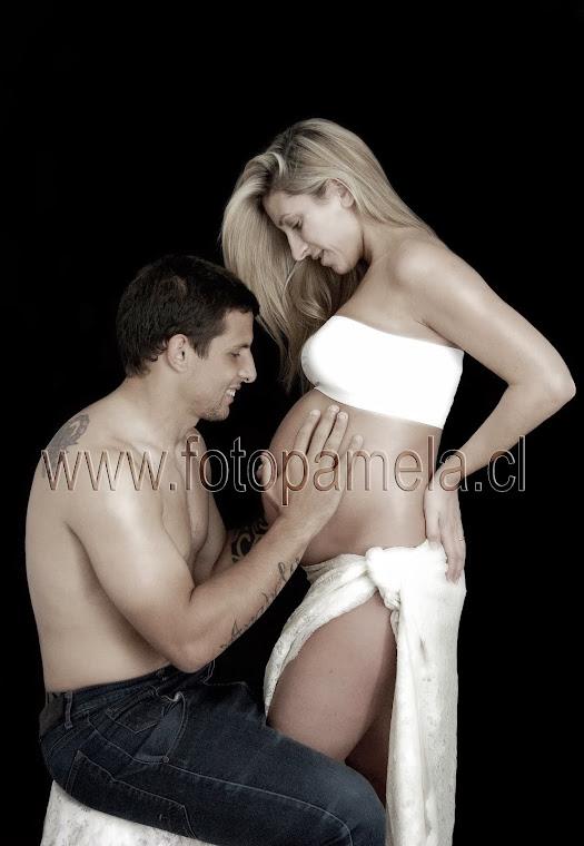 foto embarazada sesion pareja chile