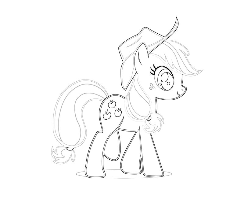 #11 My Little Pony Applejack Coloring Page