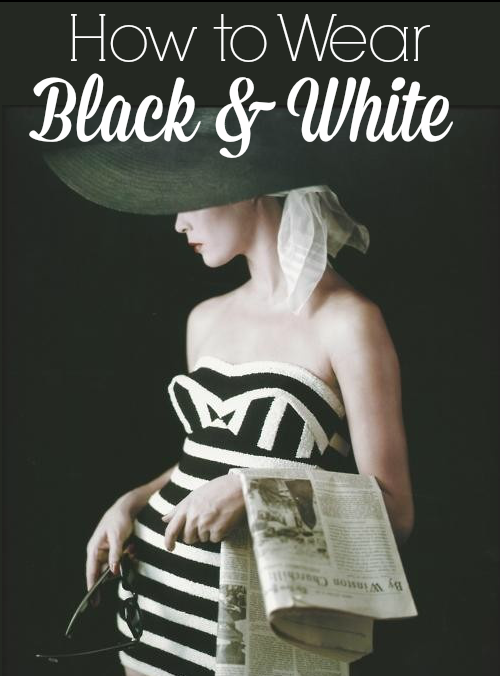 how to wear black and white vintage style