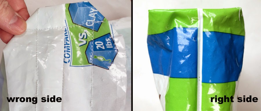 turning plastic litter bags into a tote bag