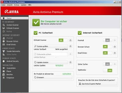 برنامج مضاد فيروسات أفيرا Avira Antivirus