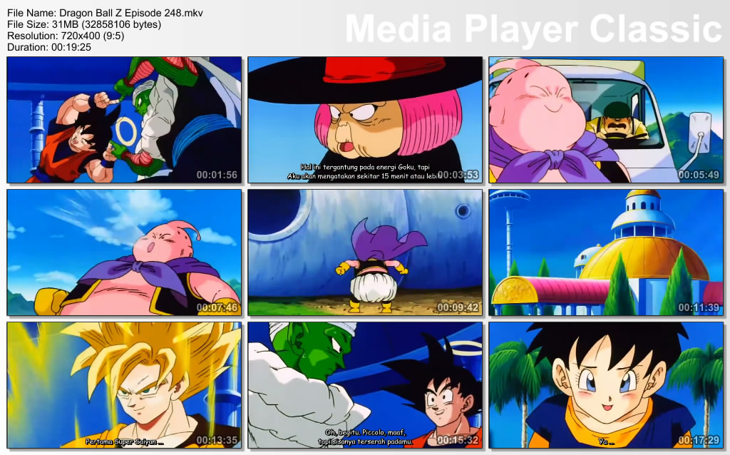 Film / Anime Dragon Ball Z Majin Buu Saga Episode 248 Bahasa Indonesia