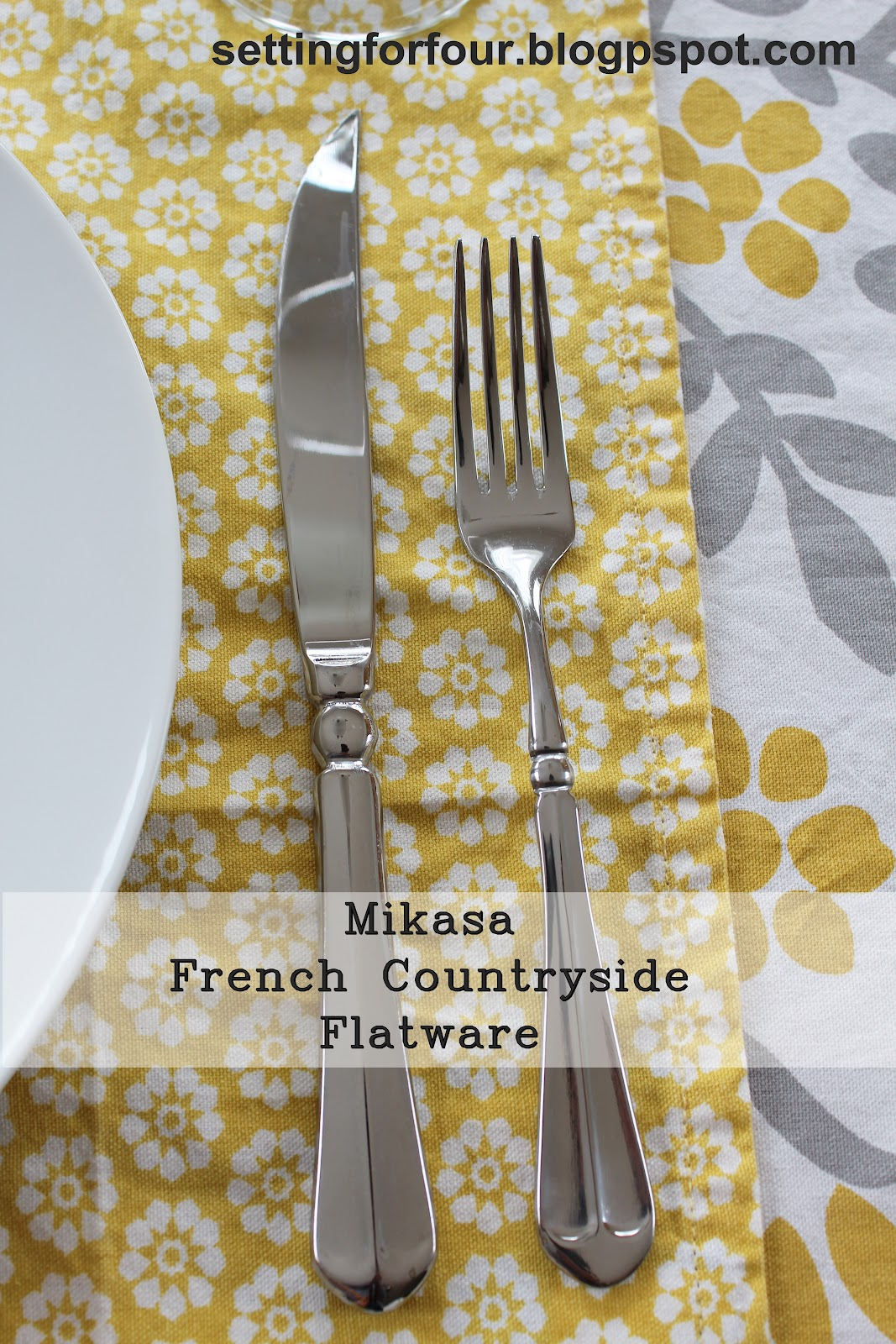 What I Love: Mikasa French Countryside Flatware - Setting for Four