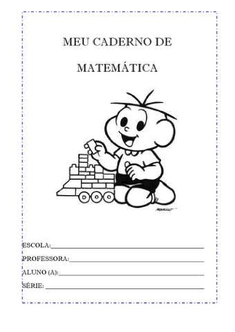 capas de caderno de matematica