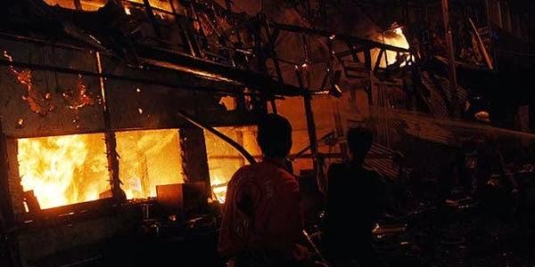 Pasar Sentral Makassar Terbakar
