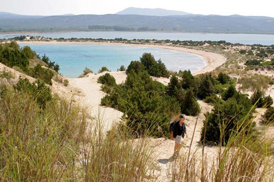 Voidokilia beach in Messinia, Peloponnese by ratsateit