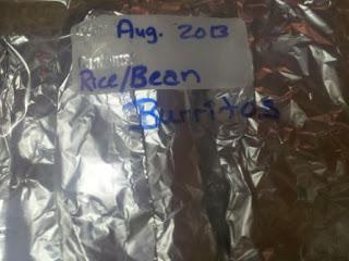 How to make refried beans, bean and rice burritos, freezer meals, freezer cooking, bean burrito freezer