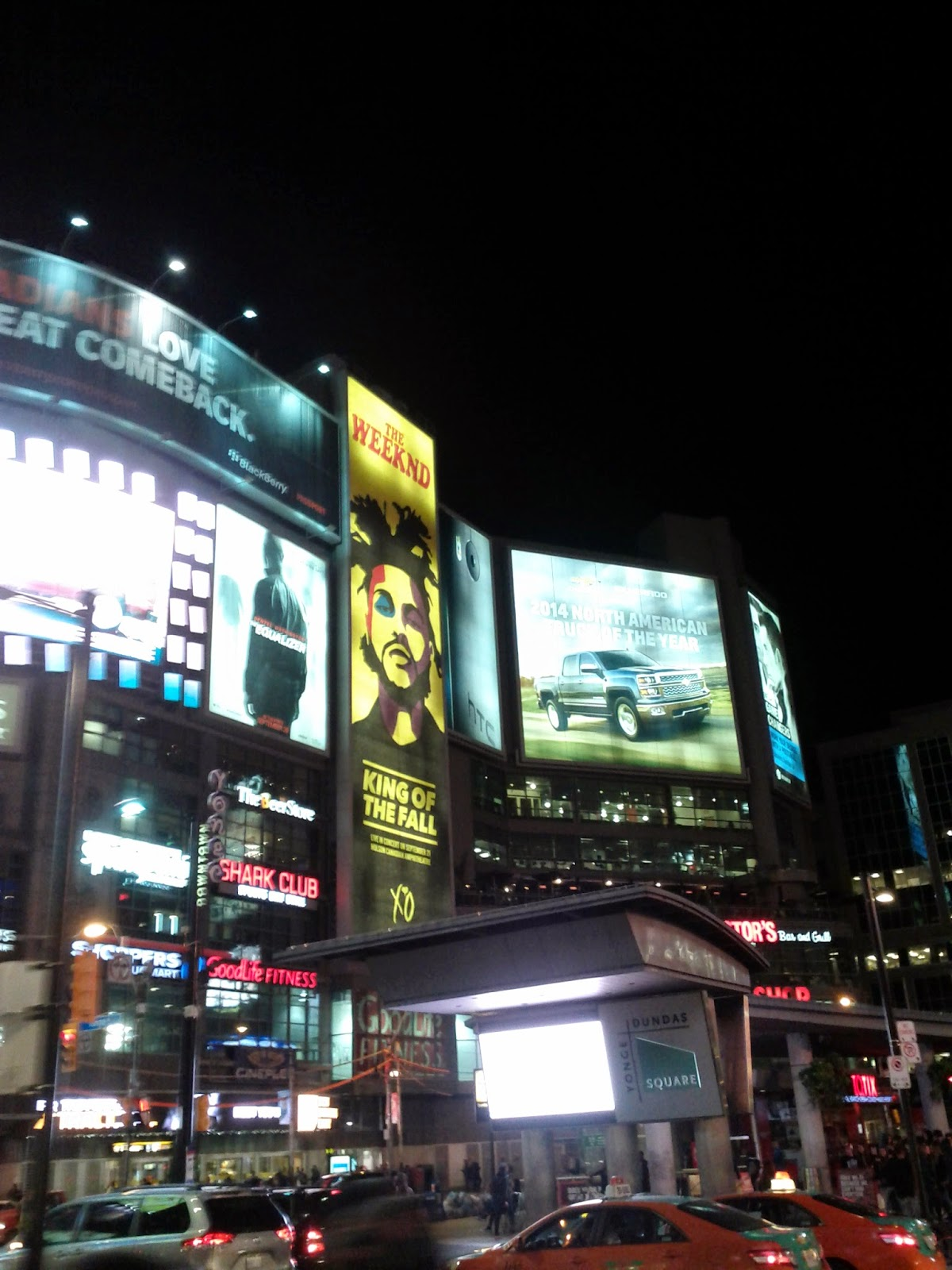 The Weekend King of the Fall Billboard in Dundas Square