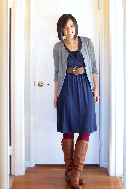 What Shoes To Wear With A Navy Blue Sweater Dress - Sweater Vest