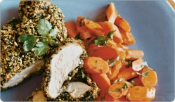 Weight Loss Recipes : Spiced Crusted Chicken with Glazed Carrots