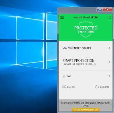 Download dan Install Hotspot Shield VPN Elite 5.20.2 Full Version