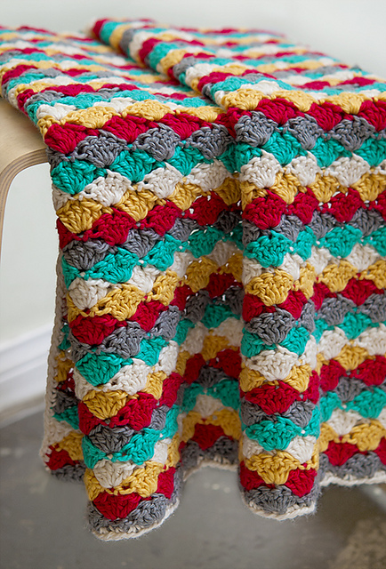 Free Crochet Pattern For A Blanket : tangled happy: Beachcomber Baby Blanket
