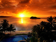 viernes atardecer tropical