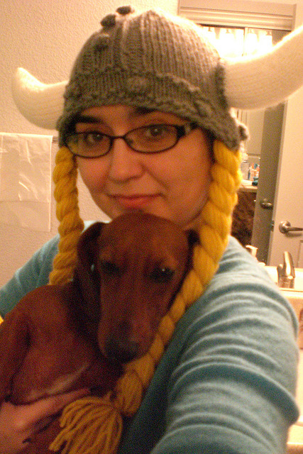 Free Knitting Pattern Viking Hat : The Knitting Needle and the Damage Done: Knitting a Wig to Flip