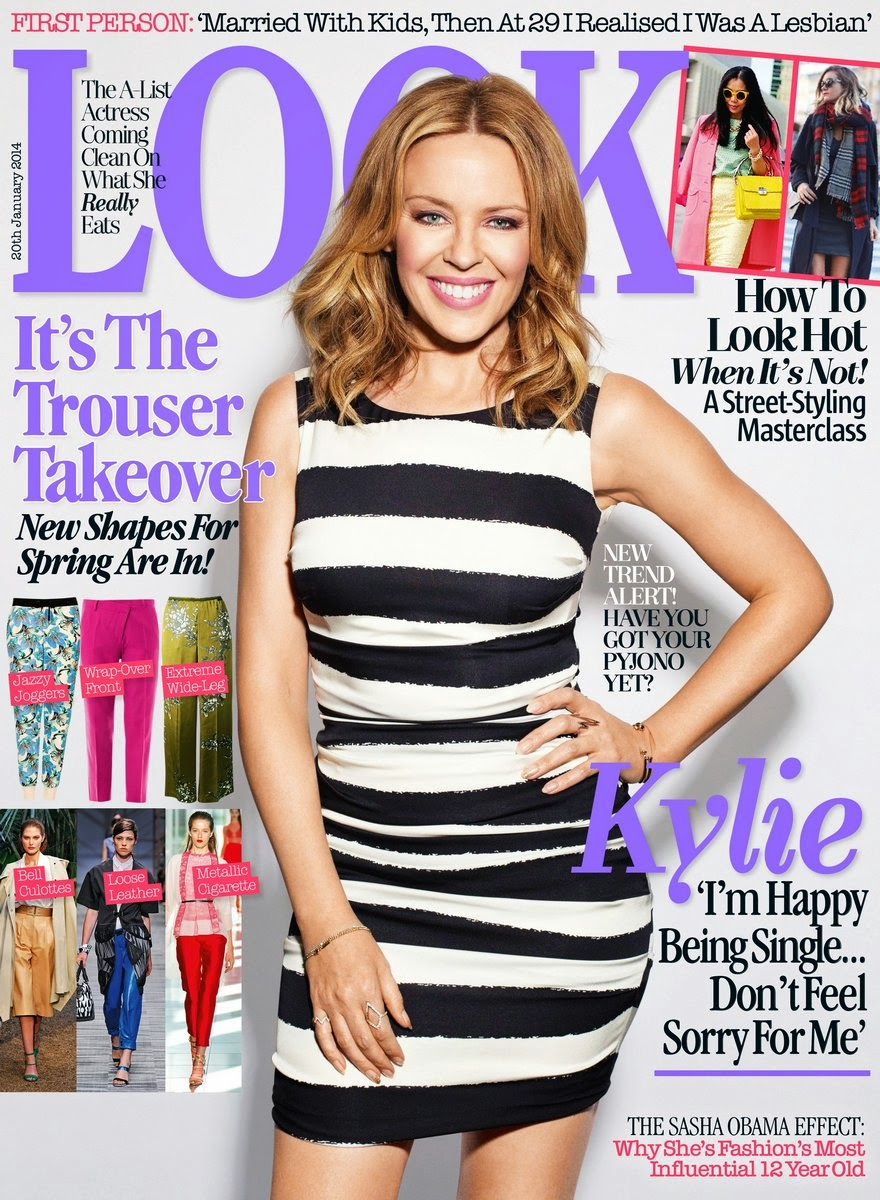Magazine Photoshoot : Kylie Minogue Photoshot For Look Magazine UK January 2014 Issue