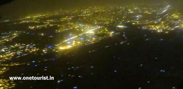 delhi in night airel view