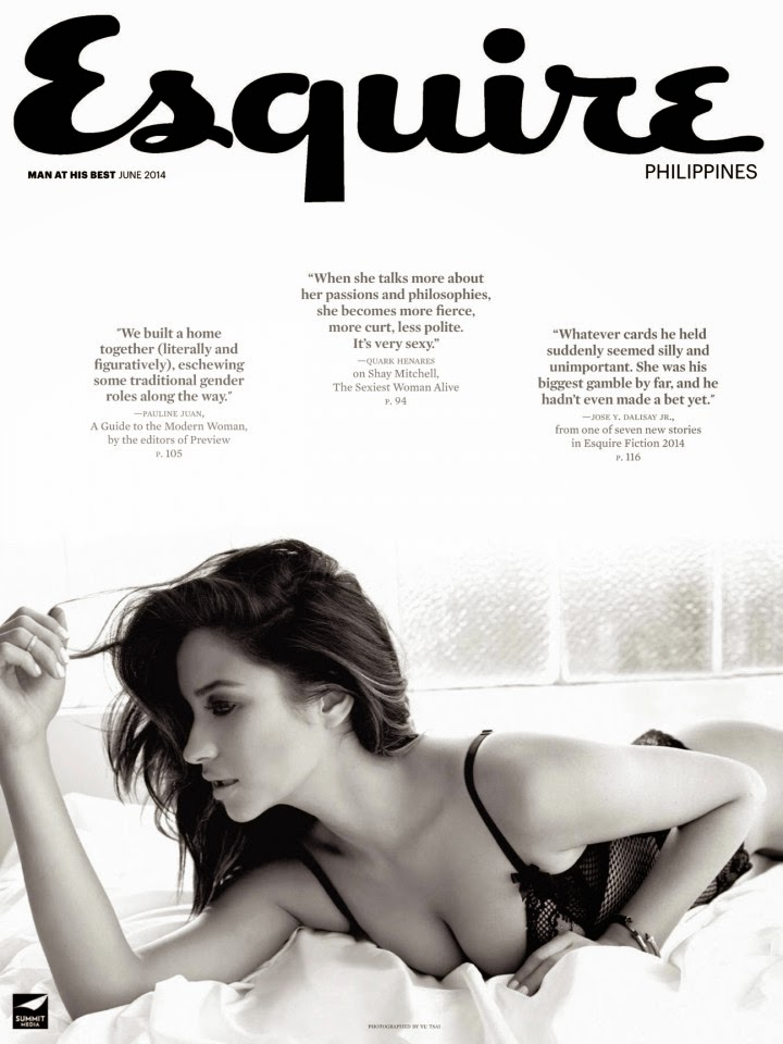 Shay Mitchell shows off lingerie looks for Esquire Philippines June 2014