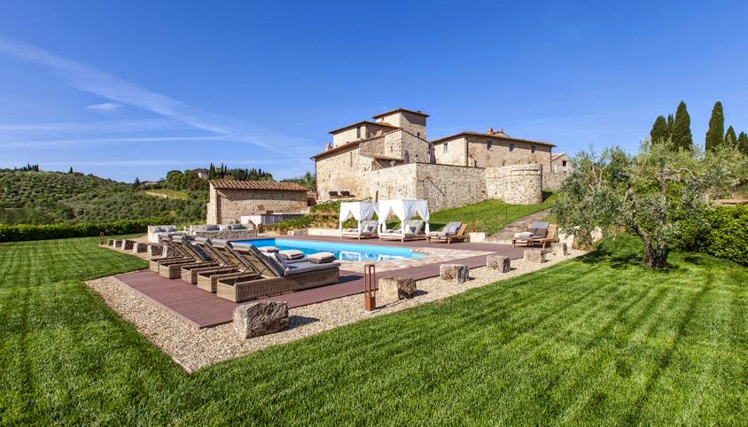 Pool And Grounds At Vitigliano Relais Spa In Tuscany Italy