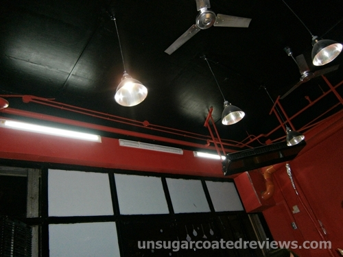 industrial style ceiling at B. Wings