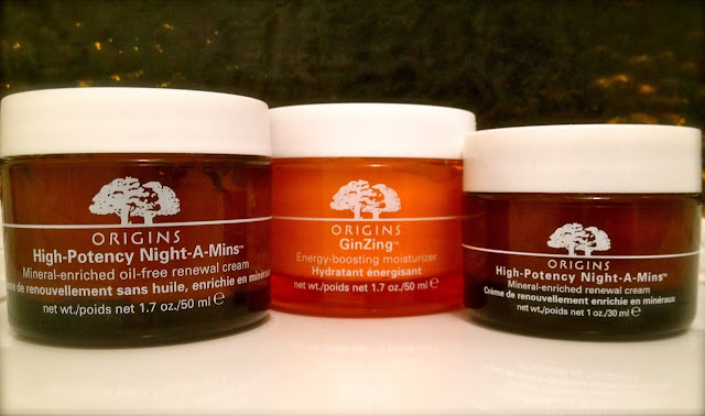 A Picture of three Origins moisturisers