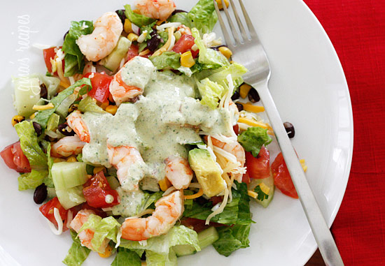 Mexican Shrimp Cobb Salad - Constantly In Transition