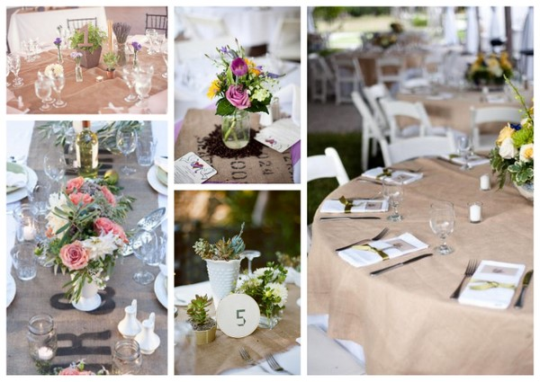 Burlap Weddings { Add A Little Natural Charm }