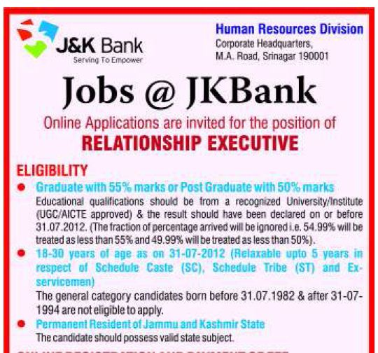 and bank relationship executive
