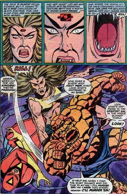 Spider-Woman y La Cosa contra Alicia Masters arácnida