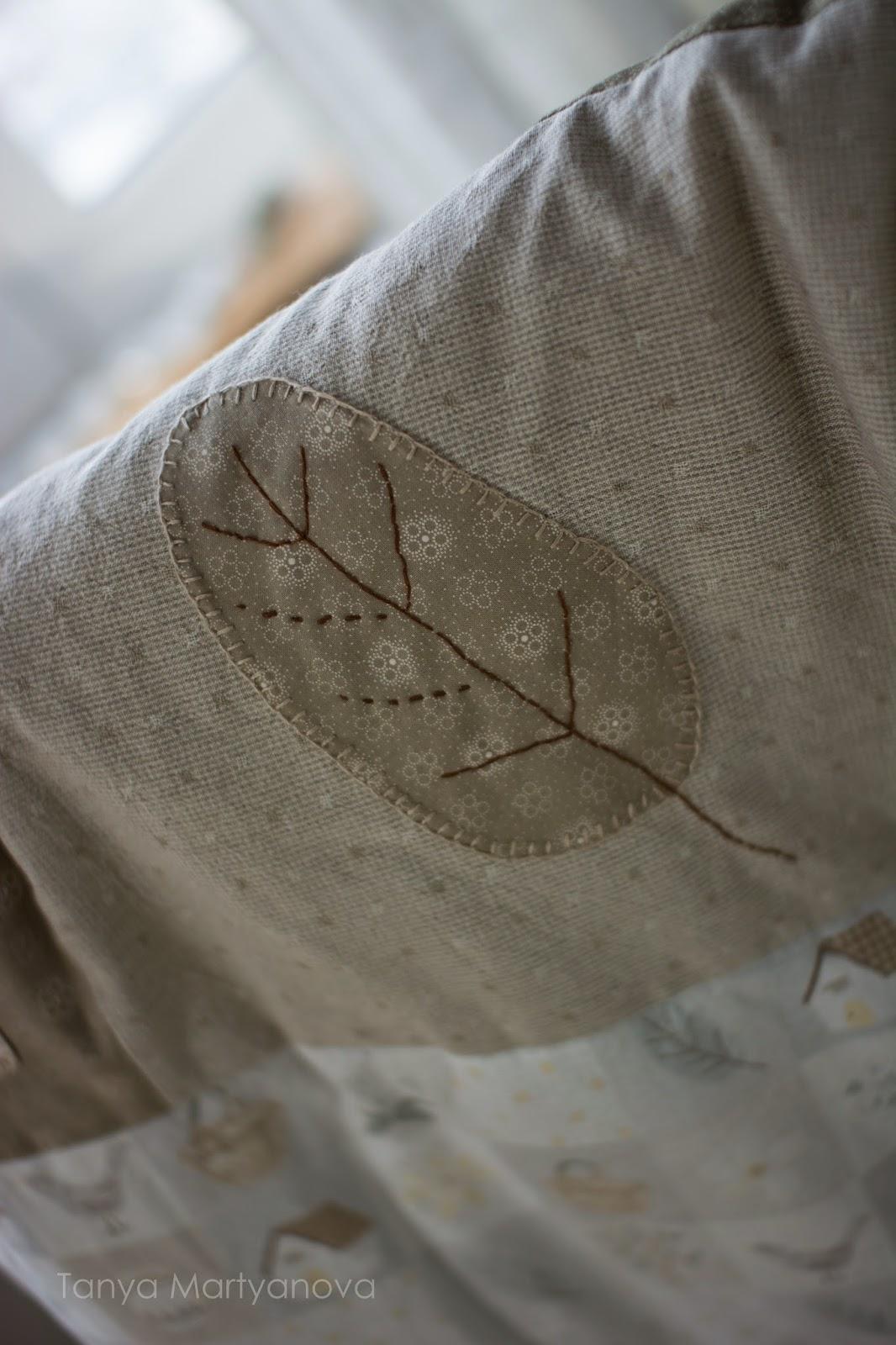 как сшить перышко из ткани