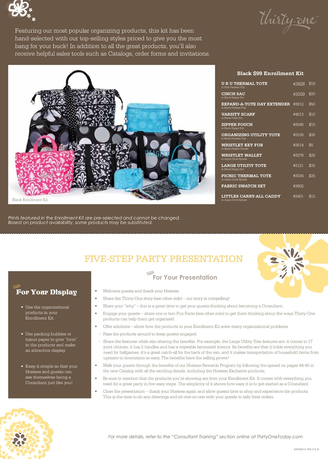 Thirty-One Enrollment Kit