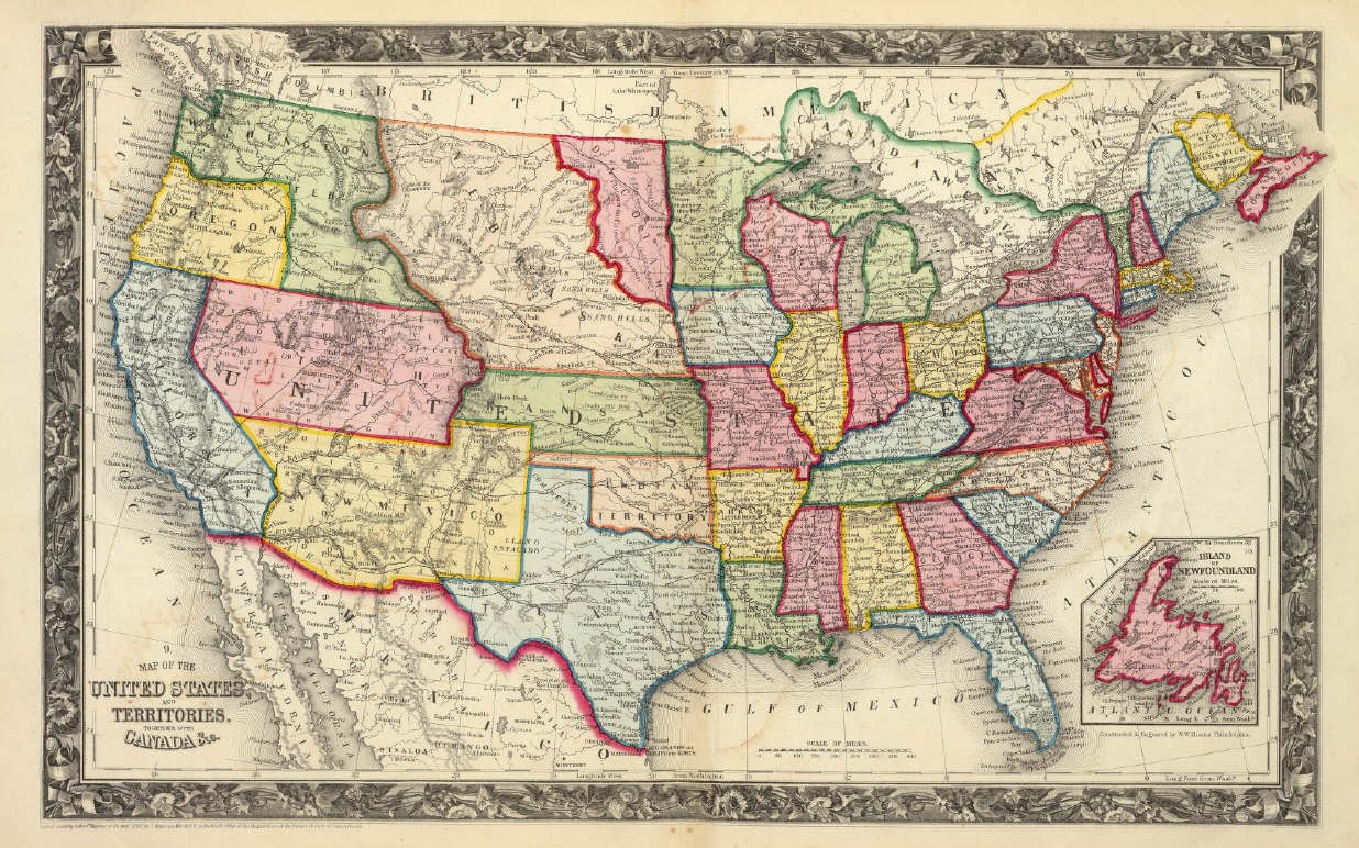 Antique Prints Blog Shaping The TransMississippi West - Map of us 61