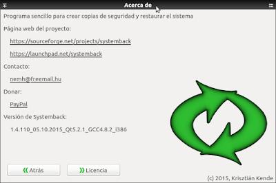 Systemback Acerca de