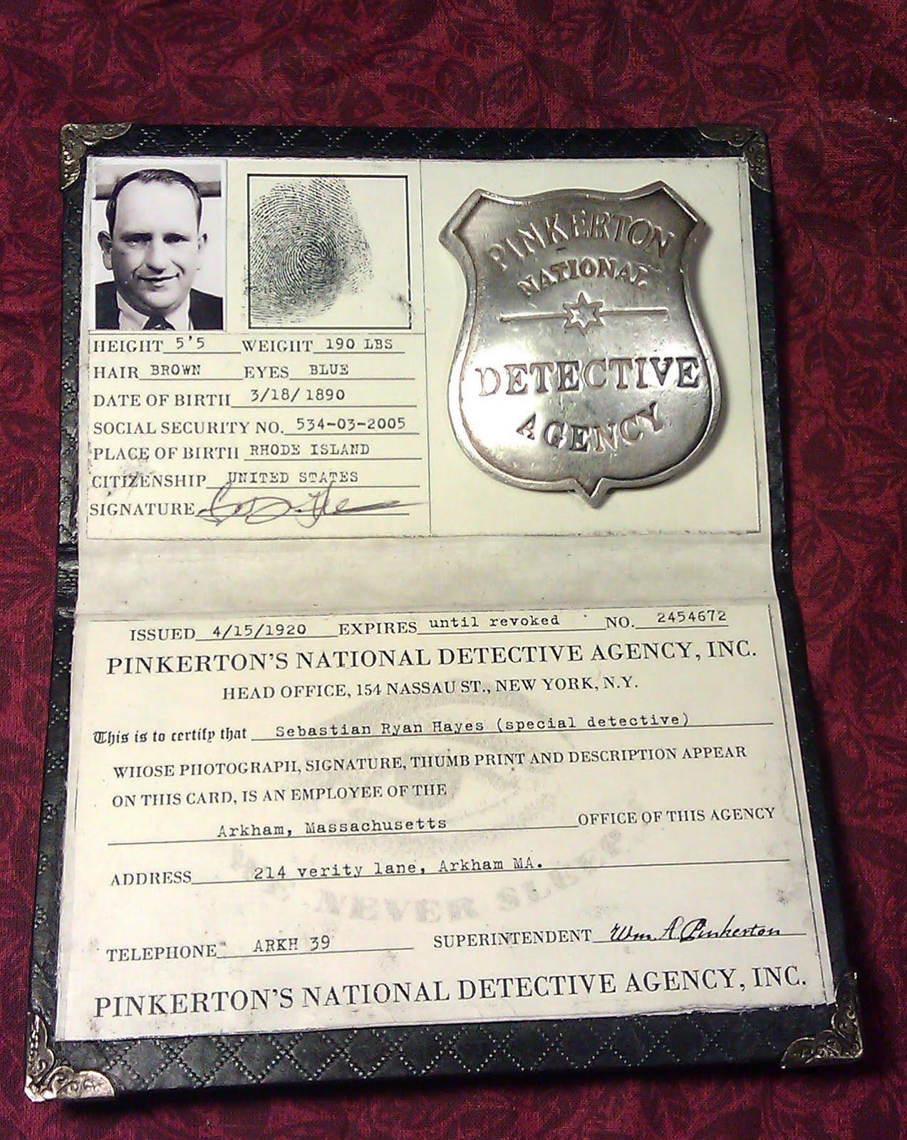 pinkertons detective agenc essay