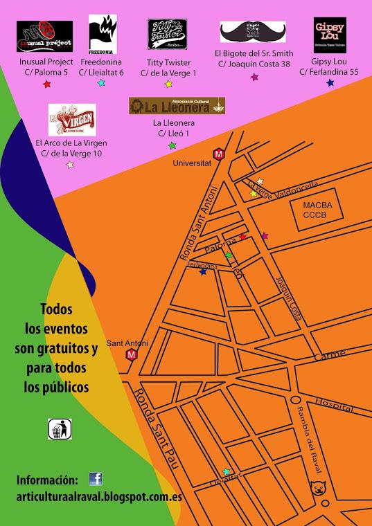 Mapa del festival