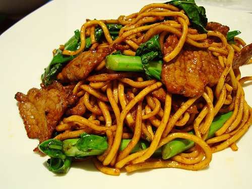 Asian noodle recipe with chicken