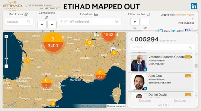 Etihad's Mapped-Out tool in collaboration with LinkedIn