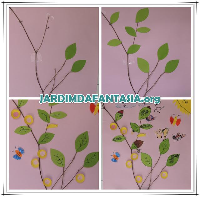 Mural Dia da Árvore Construção coletiva com elemento natural