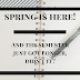 Spring Is Here! And The Semester Just Got Longer, Didn't It?