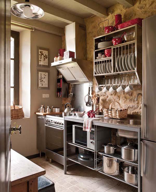proyecto decoración rustico vintage-cocina industrial