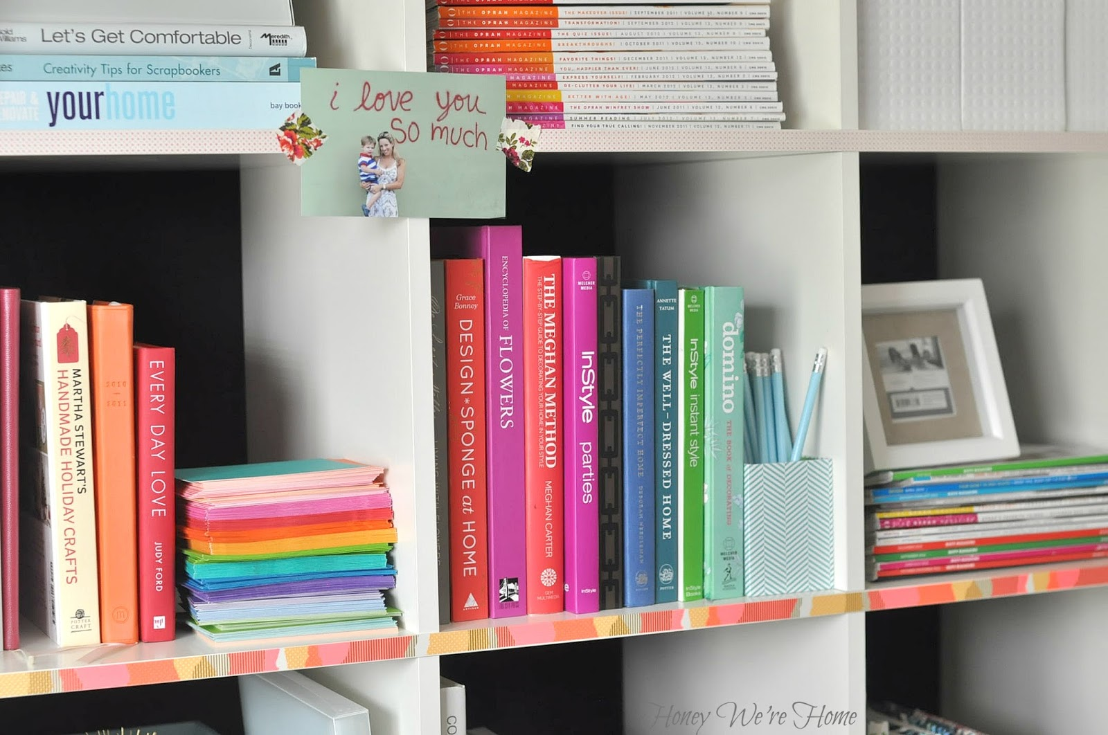 Washi Tape Bookshelf Honey We 39 Re Home
