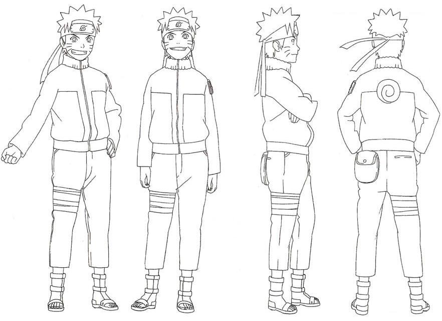 Como dibujar Naruto - tutorial para aprender a dibujar cara paso a ...