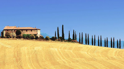 Sights and attractions of the Val d'Orcia in Tuscany, Italy